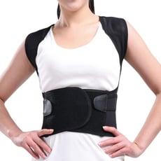 【我塑我型】一拉自動挺背可調式防駝透氣束腹護腰帶