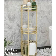 北歐ins浴室收納落地多層衛生間置物架 廁所多功能籃架子儲物架子