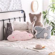 簡約 爆款北歐兒童動物抱枕 寶寶絨抱枕 居家裝飾 房間裝飾 兒童房裝飾抱枕