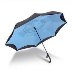 潮人必備全大雨傘反向傘雙層免持式全自動車用折疊多用可站立式德國創意汽車長柄傘便攜雙層布大雨傘一件秒開