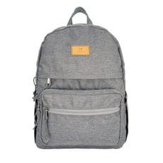 J II 後背包-街頭休閒防潑水後背包-淺灰色