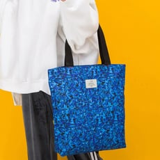 手提包-塗鴉原創手提肩背包(迷彩藍)-9099-8- J II