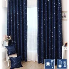 超低價-滿天星加厚柔軟遮光窗簾200CM*165CM2片一組