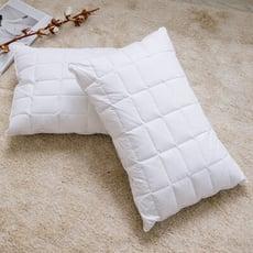 【青鳥家居】純棉彈力獨立筒特級羽絨枕