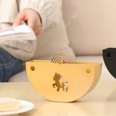 北歐麋鹿蚊香架  //創意家居客廳盤香檀香爐蚊香扣擺件