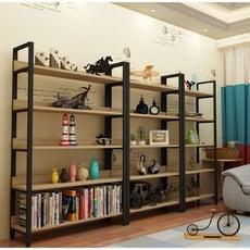 ~多層鋼木家用書架牆壁置物架落地收納架化妝品組合展示櫃