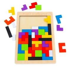 俄羅斯方塊拼圖積木制兒童早教益智力開發男女孩玩具1-2-3-4-6歲 咕嘰咕嘰