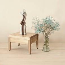 【高仕隆嚴選MIT原木傢俱】方塊小椅