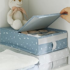 日系風格布藝格子收納襪子分格整理內衣褲收納盒