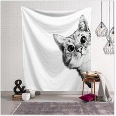 IG里的萌物代表 裝飾掛布 背景布拍照布景掛毯 買就送1.5M燈串+安裝包
