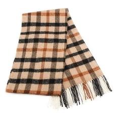 【真品保證】DAKS經典大格紋混色100%羊毛圍巾披肩(駝色)交換禮物尾牙跨年