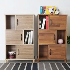 Yostyle 日和六格三門書櫃(二色)  展示櫃 收納櫃 置物櫃 櫥櫃