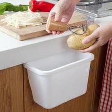 懸掛垃圾桶 置物筒 掛式 收納盒 掛籃 廚房掛物置物籃 桌邊垃圾桶 流理台 門邊 廚餘