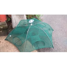 <送繩給你> 升級新技術6進折疊漁網 6孔傘狀漁網 自動捕魚網 捕魚籠 捕蝦網 提網蝦籠 6入口自動