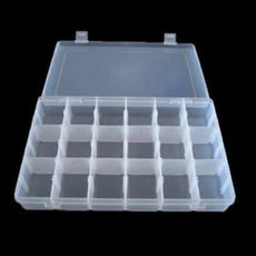18格透明收納塑膠盒 小物收納盒 零件盒 零件箱 手工材料 串珠 拼豆收納盒 印章 收納