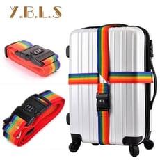 Desir-多彩十字形密碼鎖行李箱綁箱帶