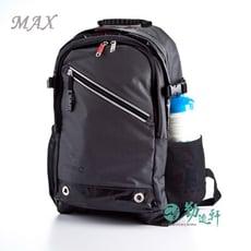 新品【UnMe】MAX人氣款休閒護脊後背書包(率性黑)台灣製造