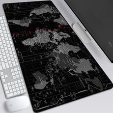 北歐風格 地圖滑鼠墊鍵盤墊 桌墊 世界地圖 鼠標墊 加大滑鼠墊