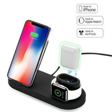 apple watch AirPods iphone三合一無線充電器 台灣NCC認證 Qi無線充電