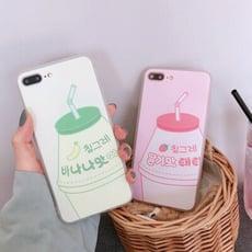 香蕉牛奶手機殼 草莓牛奶手機殼 於iPhone 12 11 IXR iX I8plus i7 SE2