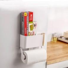 日式 磁吸式冰箱置物架廚房紙架保鮮膜收納架子多功能置物架子壁掛