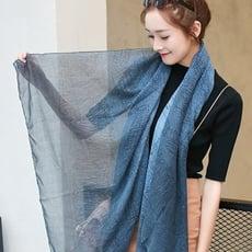 雙色漸變簡約圍巾 圍巾 披肩 保暖 寒流 絲巾