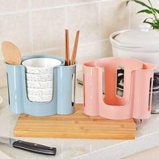 《貳次方》 多功能碗筷收納架 瀝水架 置物架 廚房收納