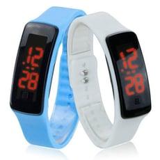 《貳次方》 鏡面LED手環錶 果凍錶 運動手錶 電子錶 兒童手錶 運動錶