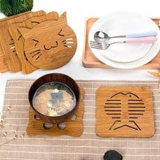 [台灣出貨] 鏤空木質隔熱墊 防滑鍋墊 鍋墊 隔熱墊 隔熱 廚房 廚房用品
