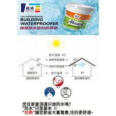 【邁克漏】屋頂防水組合 適用20坪屋頂 (屋頂、牆面專用)