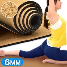 天然軟木TPE環保6MM瑜珈墊 C109-5213