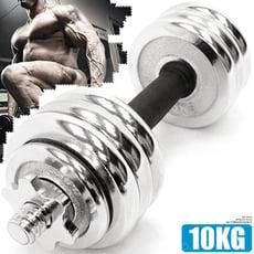 10KG電鍍啞鈴組合  10公斤啞鈴C195-311