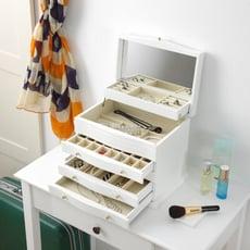 KingJET   山型棕色珠寶櫃-古典珠寶櫃/古典珠寶櫃/飾品收納/飾品櫃  MIT