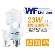 【舞光】23W 220V 6500K 白光 E27 麗晶 螺旋省電燈泡