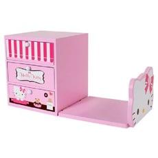 【正版授權】Hello Kitty 木製 書架收納盒 KT-1003