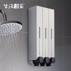 【生活采家】幸福手感典藏霧銀500ml3孔手壓式給皂機#47011