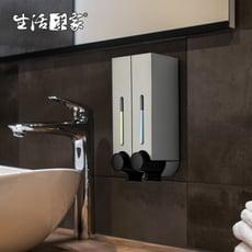 【生活采家】幸福手感典藏霧銀250ml雙孔手壓式給皂機#47059