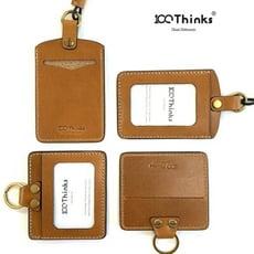 【100Thinks】手工皮革證件卡套 /識別證卡套/工作證套
