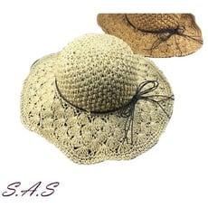 SAS 草帽 遮陽帽 編織帽 大沿帽 親子草帽 海灘遮陽帽 017