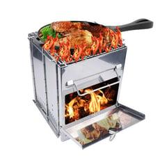 大款304不鏽鋼烤網 折疊燒烤爐 取暖爐 柴火爐 育空爐 機車爐 隨身爐 野營戶外 野炊爐 BBQ燒