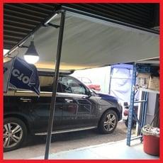 一體成形車邊帳 2*3米 (獨家送快拆組/304不鏽鋼配件) 汽車側邊遮陽棚 防雨側邊帳 帳篷 客廳