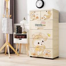 Mr.box-大面寬-快樂松鼠5層收納櫃【024002-11】
