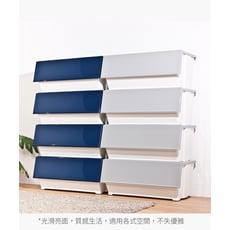 HOUSE-大容量-威爾磁吸下掀式可堆疊附輪加厚收納箱-60L【005173】