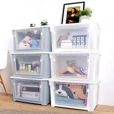 Mr.box-雙開大容量居家收納整理箱滑輪箱-3入(兩色可選)【007017】