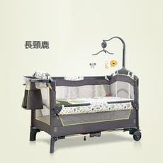 多功能遊戲床 嬰兒床 大床 攜帶方便 附宮廷蚊帳 尿布台 置物袋 音樂鈴 安全帶