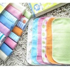 【居家寶盒】8條一組小毛巾 嬰兒喂奶巾 口水巾 洗臉 洗澡 兒童手帕 嬰幼兒多用途小方巾