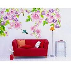 居家寶盒【YV2258】創意可移動壁貼 牆貼 背景貼 磁磚貼 壁貼 組合時尚壁貼 鈴鐺花