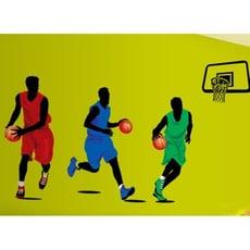 居家寶盒【YV3851-1】新款壁貼 無痕創意壁貼 居家裝飾牆貼 運動 籃球 灌籃 AY9193