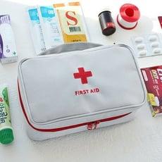 居家寶盒【SV6471】韓國時尚旅行便攜手提醫藥包 急救包 藥包 藥品整理收納包 雜物收納包 大號