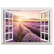 田園日出 3D假窗戶 居家裝潢佈置 壁貼【YV0507】居家寶盒